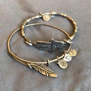 SILVER ALEX AND ANI BRACELETS